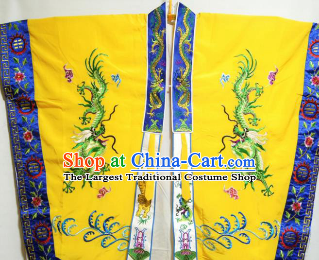 Traditional Chinese Beijing Opera Takefu Costume Ancient Taoist Priest Yellow Robe