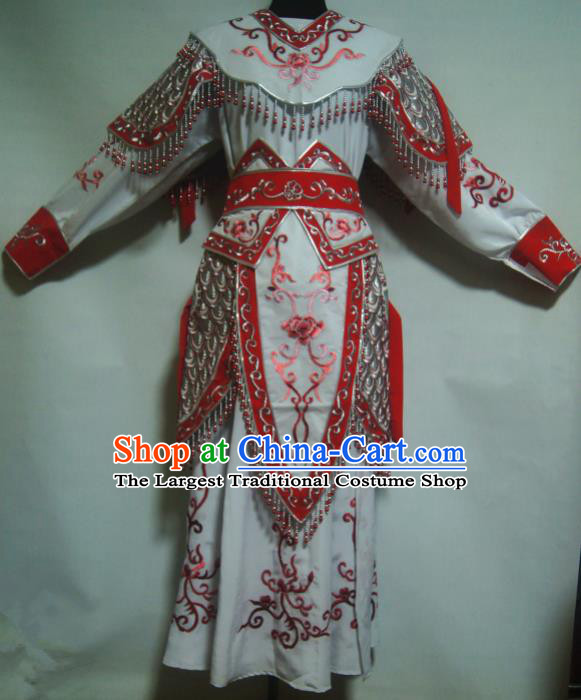 Traditional Chinese Beijing Opera Blues Costume Ancient Female Warrior Red Dress for Women