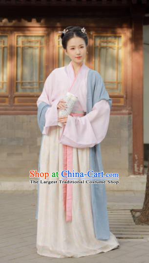 Chinese Traditional Song Dynasty Aristocratic Lady Historical Costume Ancient Princess Hanfu Dress for Women