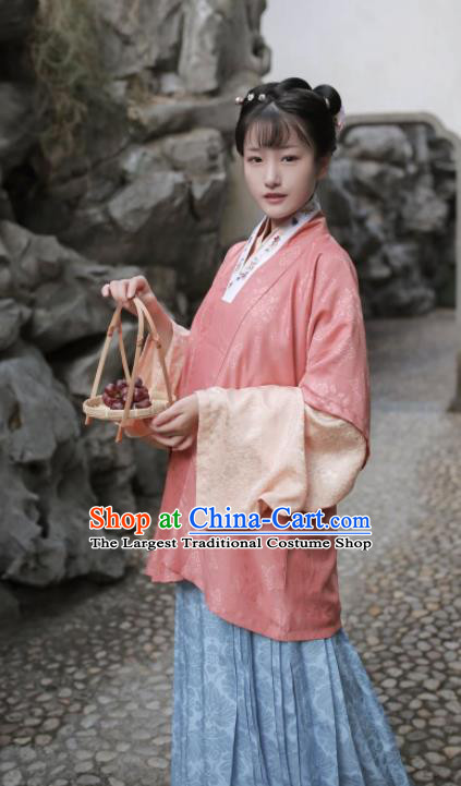 Traditional Chinese Ancient Ming Dynasty Nobility Lady Historical Costume Complete Set