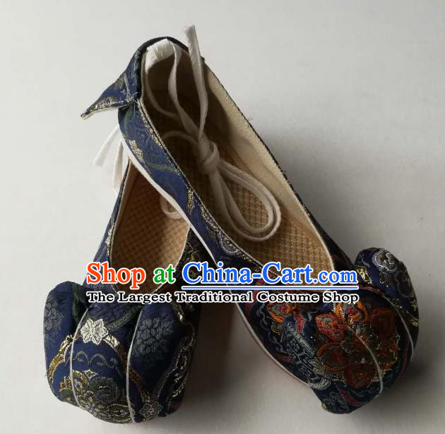 Asian Chinese Traditional Shoes Ancient Song Dynasty Navy Shoes Hanfu Shoes for Women