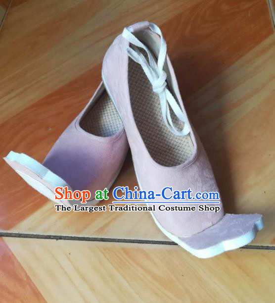 Asian Chinese Traditional Shoes Ancient Han Dynasty Pink Shoes Princess Hanfu Shoes for Women
