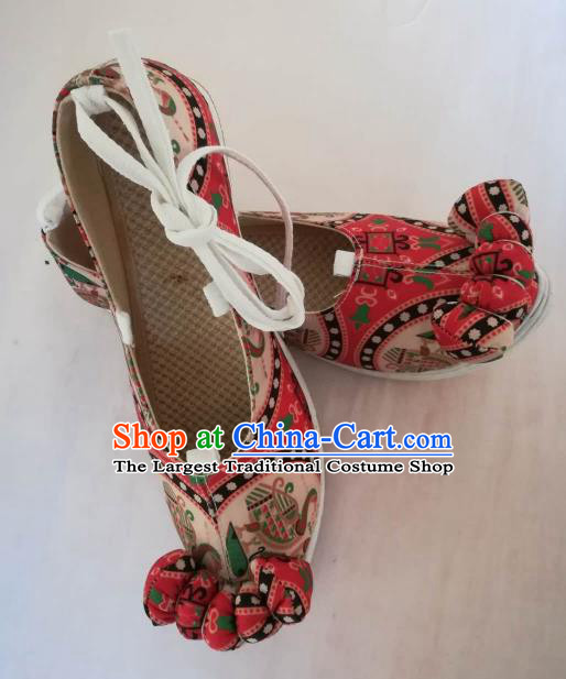 Asian Chinese Traditional Shoes Ancient Princess Embroidered Shoes Hanfu Shoes for Women