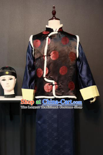 Traditional Chinese Ancient Drama Qing Dynasty Prince Clothing for Men