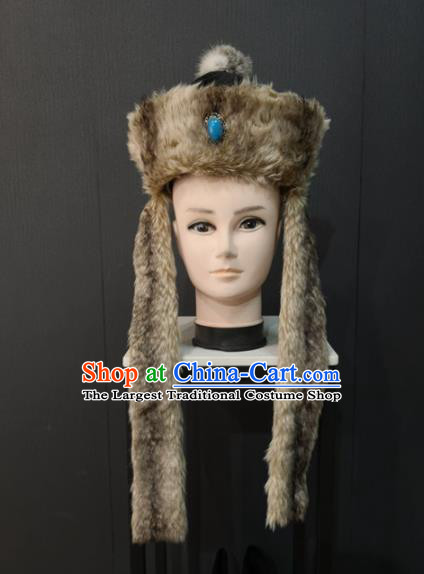 Asian Chinese Traditional Hair Accessories Ancient Ethnic Prince Hat for Men