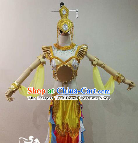 Asian Chinese Traditional Classical Dance Costume Ancient Flying Apsaras Dance Clothing for Women