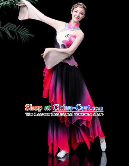 Traditional Chinese Stage Performance Costume Folk Dance Fan Dance Clothing for Women
