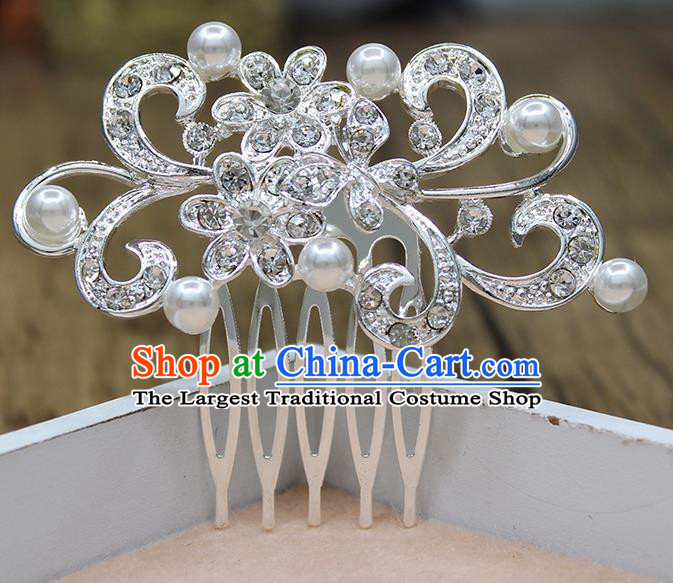 Top Grade Handmade Princess Hair Accessories Classical Crystal Flower Hair Comb for Women