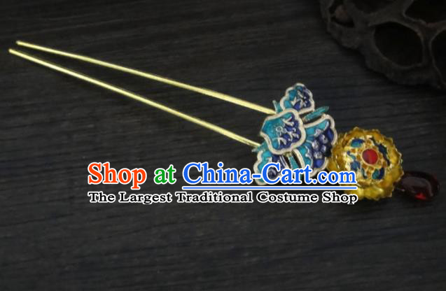Chinese Ancient Palace Hair Accessories Traditional Classical Tang Dynasty Golden Hairpins for Women