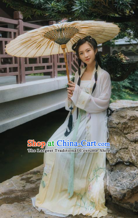Chinese Ancient Aristocratic Lady Hanfu Dress Traditional Song Dynasty Historical Costume for Women