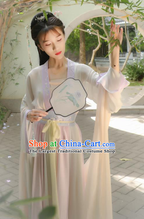 Traditional Chinese Ancient Princess Hanfu Dress Tang Dynasty Palace Lady Historical Costume for Women
