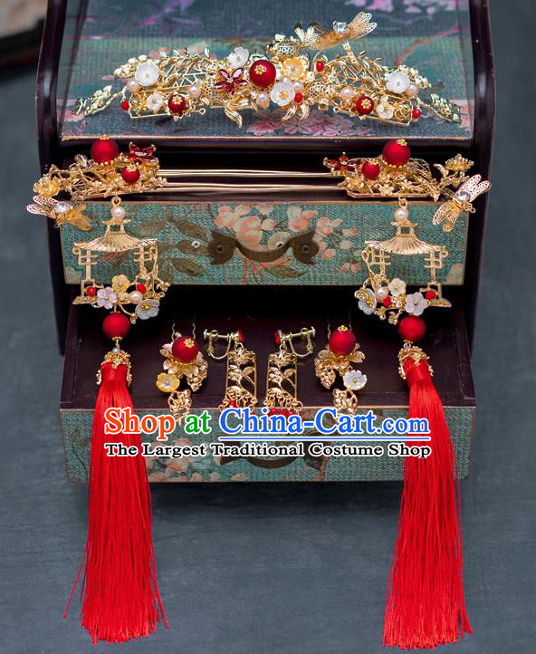 Chinese Ancient Queen Hair Accessories Phoenix Coronet Traditional Hanfu Hairpins for Women