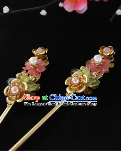 Chinese Ancient Hair Accessories Hair Clip Traditional Bride Hanfu Hairpins for Women