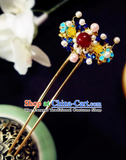 Chinese Ancient Hair Accessories Classical Hair Clip Traditional Palace Hanfu Hairpins for Women