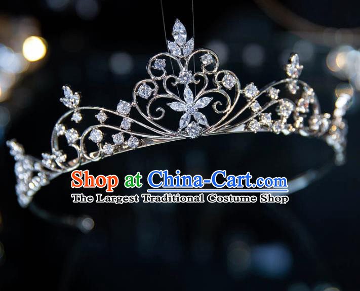 Top Grade Handmade Wedding Hair Accessories Baroque Princess Zircon Royal Crown for Women