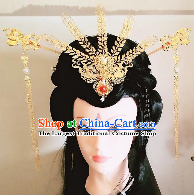 Chinese Ancient Legend of Yunxi Princess Hair Accessories Palace Traditional Hanfu Phoenix Coronet Hairpins for Women