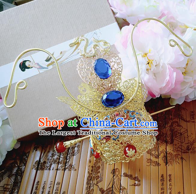 Chinese Ancient Prince Hair Accessories Palace Traditional Hanfu Hair Crown Hairpins for Men