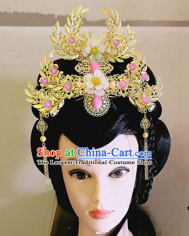 Chinese Ancient Princess Hair Accessories Traditional Hanfu Palace Phoenix Coronet Hairpins for Women