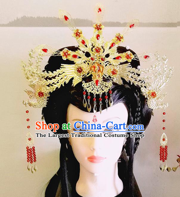 Chinese Ancient Queen Phoenix Coronet Hair Accessories Traditional Hanfu Hairpins for Women