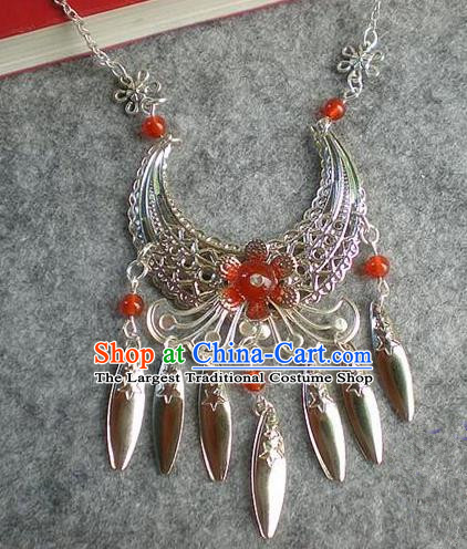 Chinese Ancient Bride Hanfu Accessories Traditional Palace Necklace for Women