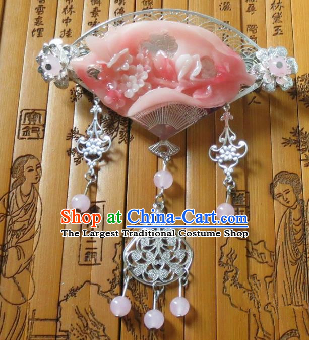 Chinese Ancient Queen Hair Accessories Traditional Hanfu Palace Tassel Hair Claw for Women