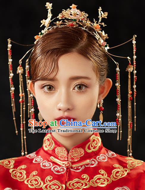 Chinese Ancient Hair Accessories Wedding Hair Clip Hairpins Traditional Phoenix Coronet for Women