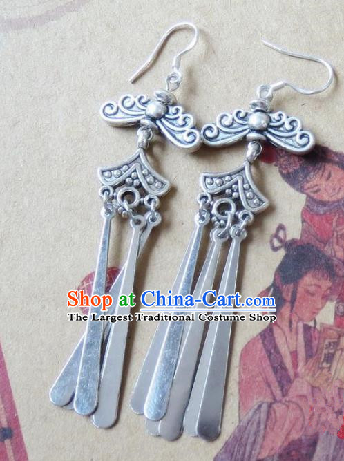 Chinese Ancient Princess Jewelry Accessories Traditional Ethnic Earrings for Women