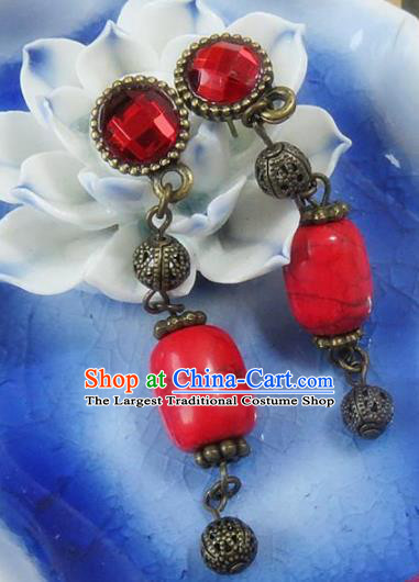Chinese Ancient Princess Jewelry Accessories Traditional Earrings for Women