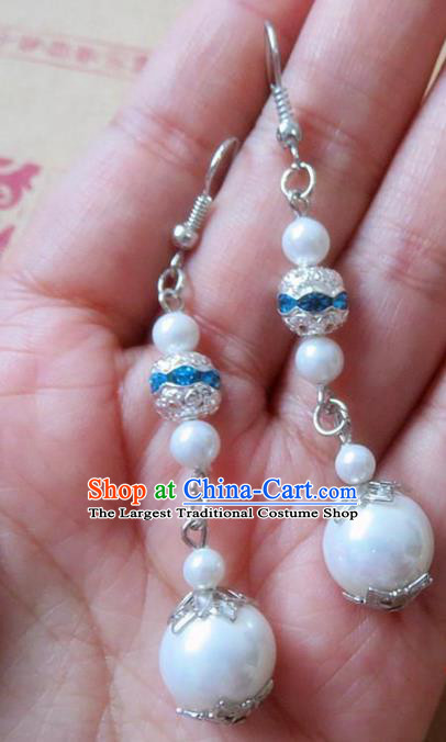 Chinese Ancient Princess Jewelry Accessories Traditional Hanfu Earrings for Women
