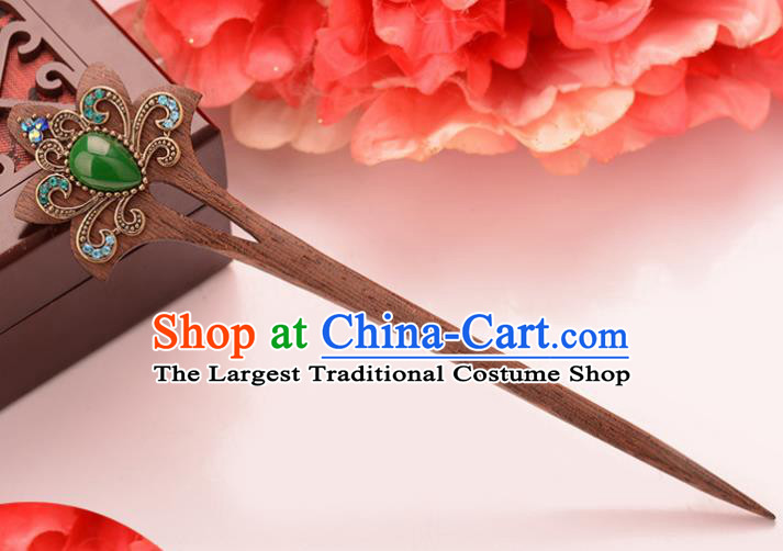 Chinese Ancient Hair Accessories Traditional Palace Ebony Hairpins for Women