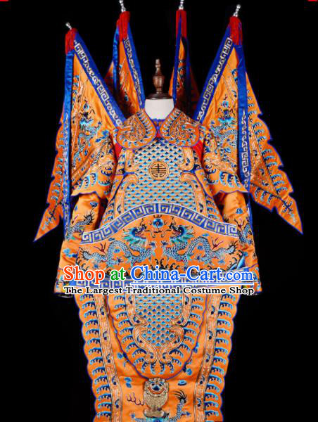 Professional Chinese Beijing Opera Costume Traditional Peking Opera General Yellow Clothing for Adults