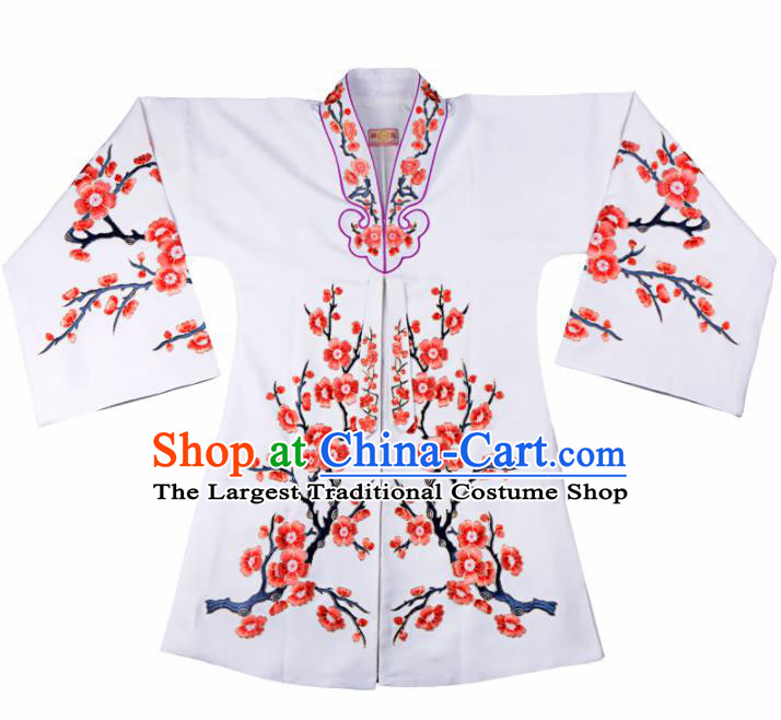 Professional Chinese Traditional Beijing Opera Actress Costume White Cloak for Adults