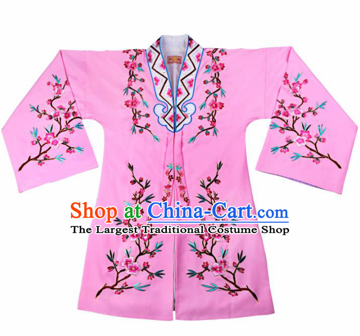 Professional Chinese Traditional Beijing Opera Actress Costume Pink Cloak for Adults