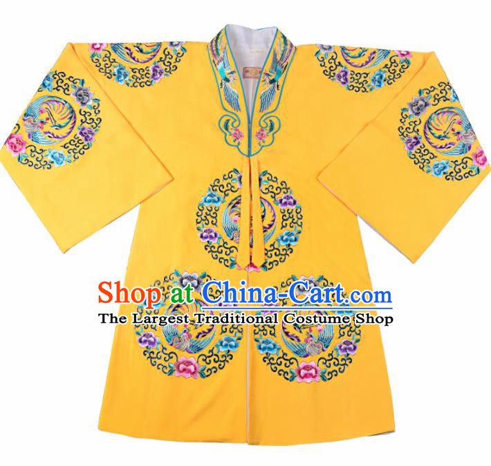 Professional Chinese Traditional Beijing Opera Costume Peking Opera Aristocratic Lady Yellow Cloak for Adults