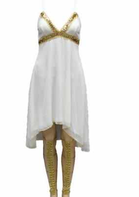 Traditional Egypt Costume Ancient Egypt Queen White Dress for Women
