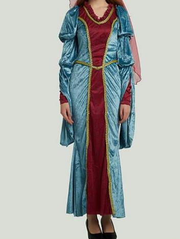 Traditional Egypt Costume Ancient Egypt Queen Blue Dress for Women