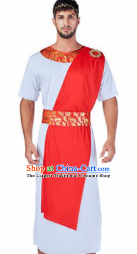 Traditional Greece Prince Costume Ancient Greek Warrior Clothing for Men