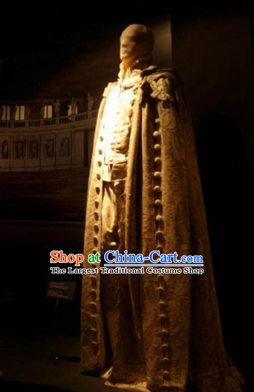 Traditional Greek Prince Costume Ancient Greek King Golden Clothing for Men