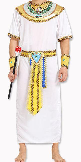 Traditional Egypt King Costume Ancient Egypt Priest Clothing for Men