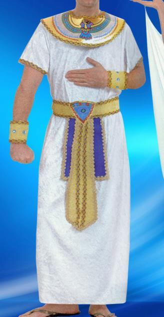 Traditional Egypt Presbyter Costume Ancient Egypt Pharaoh White Clothing for Men