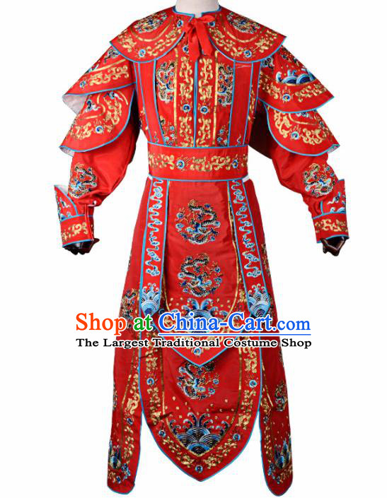 Professional Chinese Beijing Opera Takefu Costume Traditional Peking Opera Red Clothing for Adults