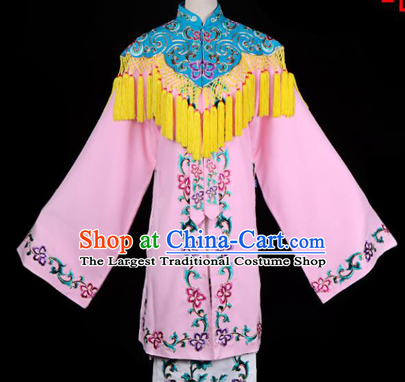 Professional Chinese Traditional Beijing Opera Costume Ancient Princess Embroidered Pink Dress for Adults