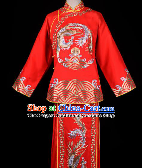 Professional Chinese Traditional Beijing Opera Young Lady Costume Ancient Maidservants Red Dress for Adults
