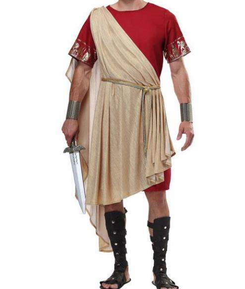Traditional Greek Male Costume Ancient Greek Warrior Clothing Chitons for Men
