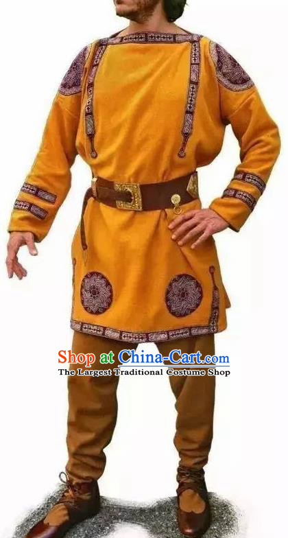 Traditional Greek Male Costume Ancient Greek Warrior Clothing Huntsman Himation for Men