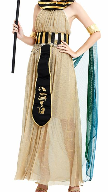 Traditional Egypt Stage Performance Costume Ancient Egypt Queen Grey Dress for Women