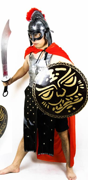 Traditional Roman Warrior Costume Ancient Rome Tunics Clothing for Men