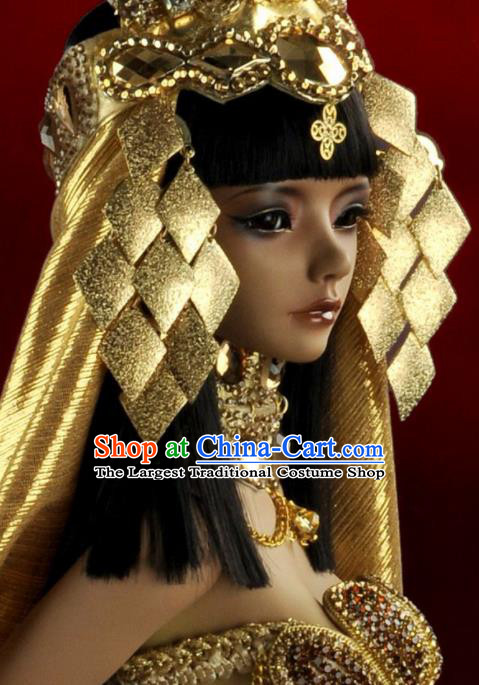Traditional Egyptian Hair Accessories Ancient Egypt Queen Golden Hat Hair Crown for Women