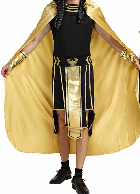 Traditional Egypt Costume Ancient Egypt Warrior Black Clothing for Men