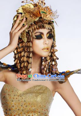 Traditional Egyptian Queen Hair Accessories Ancient Egypt Hair Crown for Women